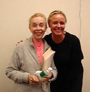 Hillary Davis and Dr. Joyce Brothers